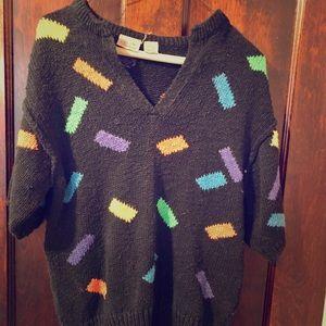 A Liz Claiborne Vintage 80s shortsleeved Sweater